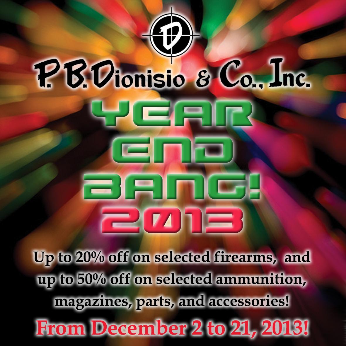 Manila, Philippines. P.B.Dionisio Gun Store's Year End Bang Sale 2013