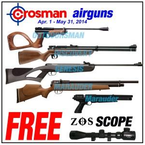 PBDionisio Gun Store All In Summer Sale: Crosman with Free Nantong Scopes