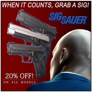PBDionisio Gun Store All In Summer Sale: Sig Sauer 20 Percent Off Sale