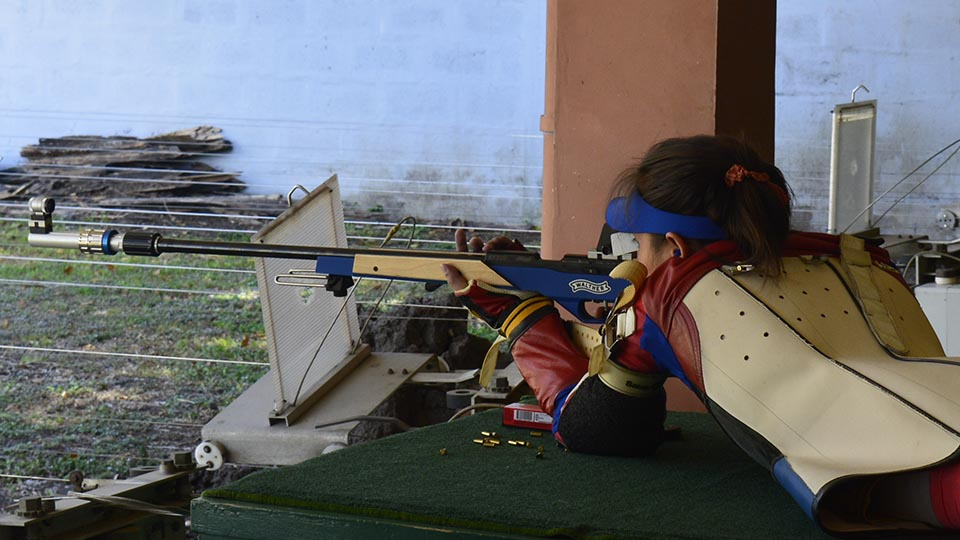Therese Gutierrez - Practicing for SEA Games 2015