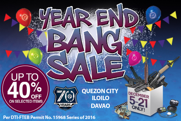 YEAR END BANG SALE PROMO