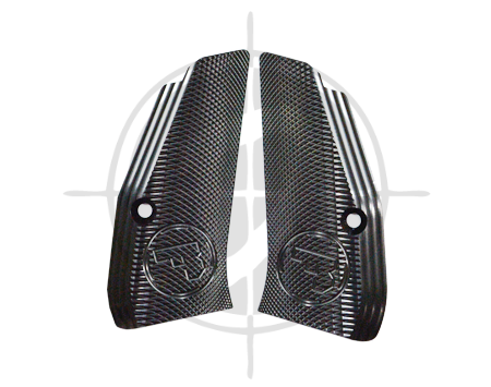 CZ Aluminum Grip Panel Compact Checkered Black picture