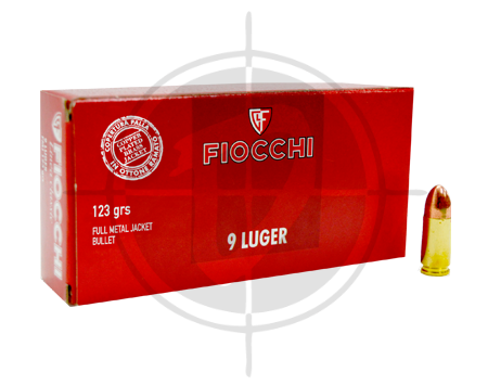 Fiocchi 9mm fmj copper plated 123gr picture