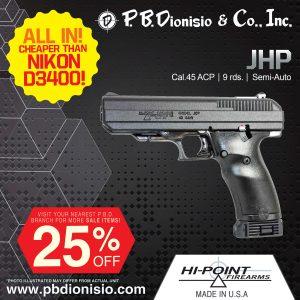 HI POINT JHP 45 pistol picture