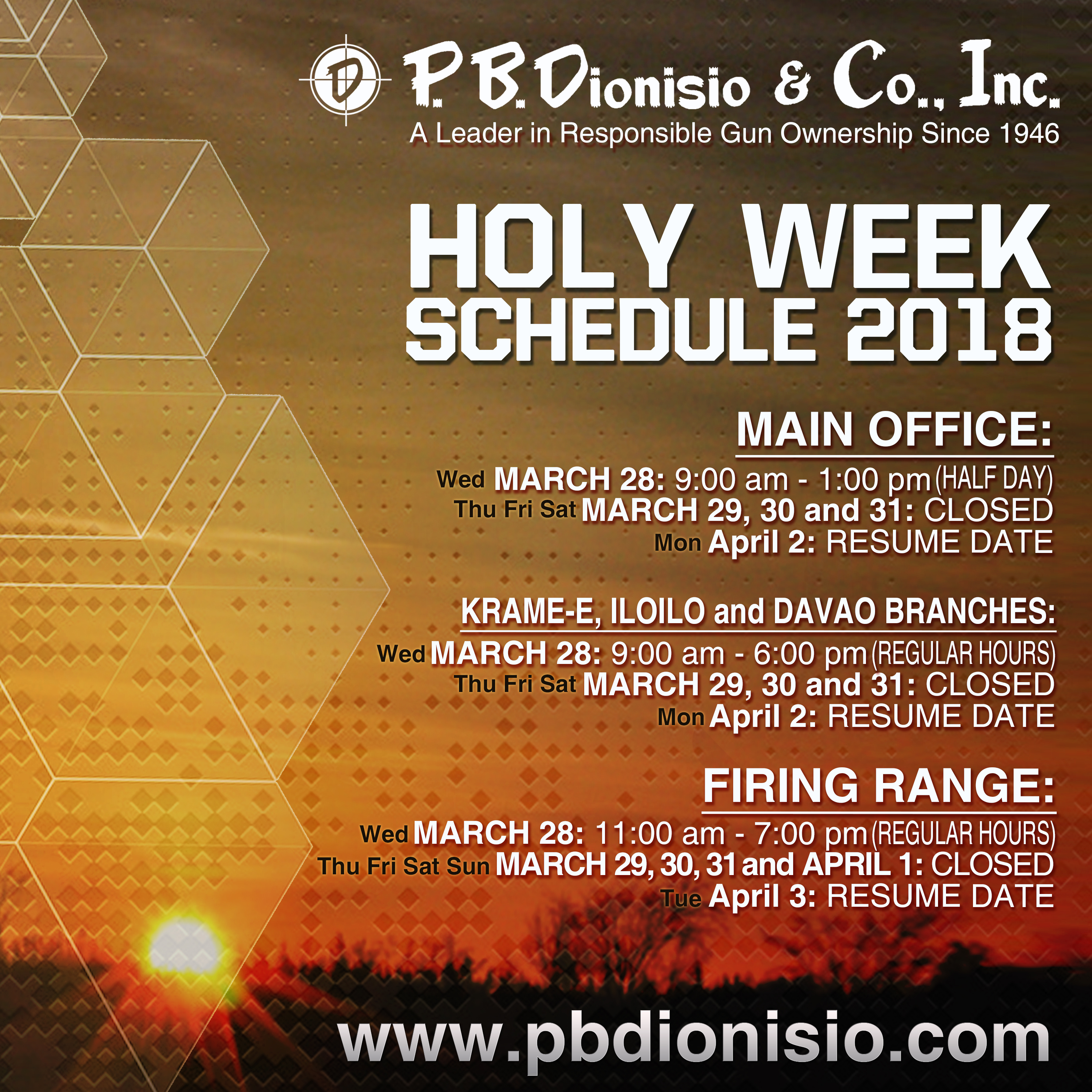 HOLY WEEK SCHEDULE 2018 picture