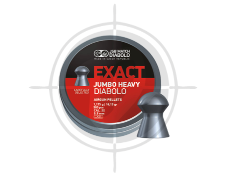 JSB Exact Diabolo Jumbo Heavy 18.13 grains pellets picture