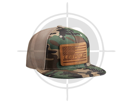 Leupold 511 Leather Flag Flat Bill camo-khaki cap picture