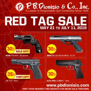 sold out pistols on RED TAG SALE PICTURE