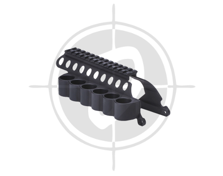Mesa Tactical SureShell Carrier and Saddle Rail for Rem 870 6 Shell PICTURE
