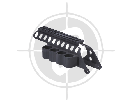 Mesa Tactical SureShell Polymer Carrier and Rail for Remington 870 4 Shell Shotgun 92160 picture
