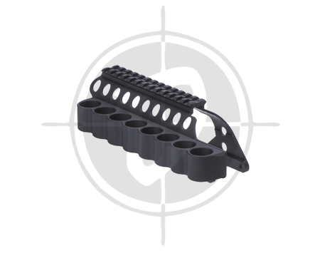 Mesa Tactical SureShell Polymer Carrier and Rail for Remington 870 8 Shell Shotgun 91640 picture