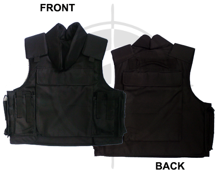 Jin Yi Jia Bullet Proof Vest with Collar PBV009 Black Large