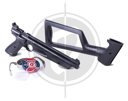 Crosman American Classic Kit Air Pistol with Shoulder Stock picture