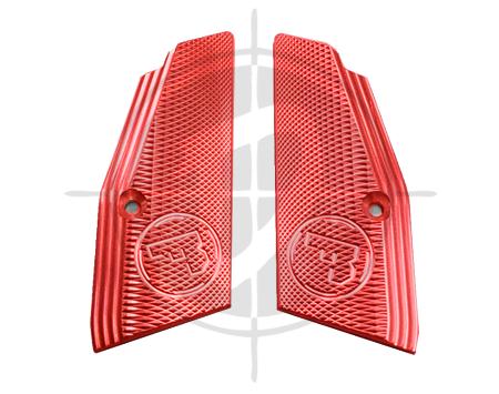 CZ Aluminum Grip Panel Short Red CZ 75 picture