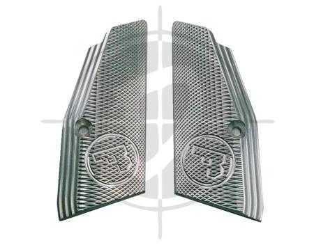 CZ Aluminum Grip Panel Short Silver CZ 75 picture