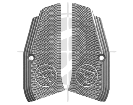 CZ Aluminum Grip Panel Silver for CZ 97 picture