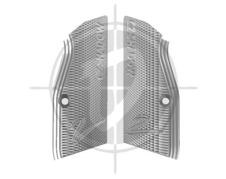 CZ Alumninum Grips for Shadow 2 Short Silver Hard Elox pic