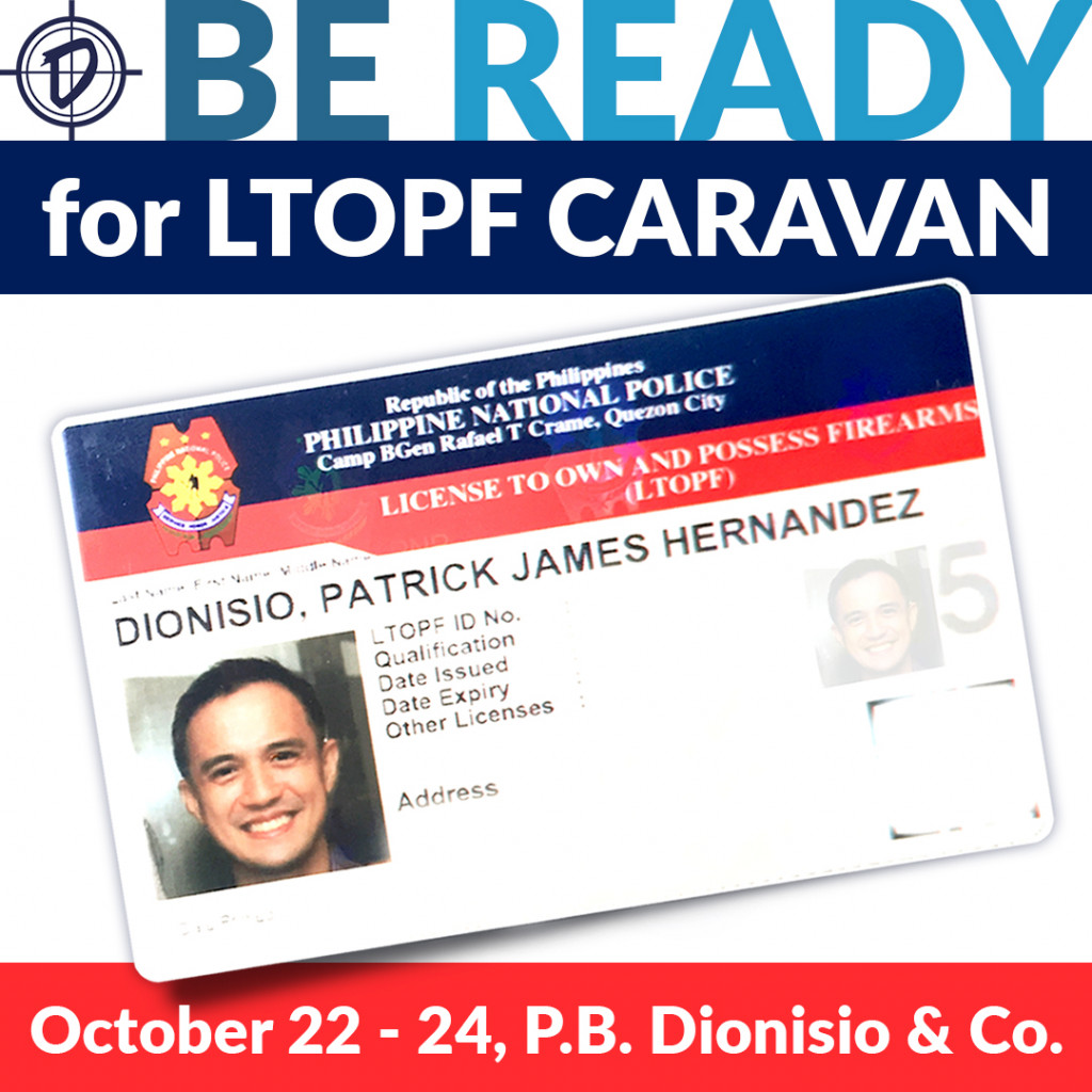 The FEO has graciously offered to host an LTOPF Caravan with PBDionisio & Co. on Thursday, October 22 to Saturday, October, 24, 2020.