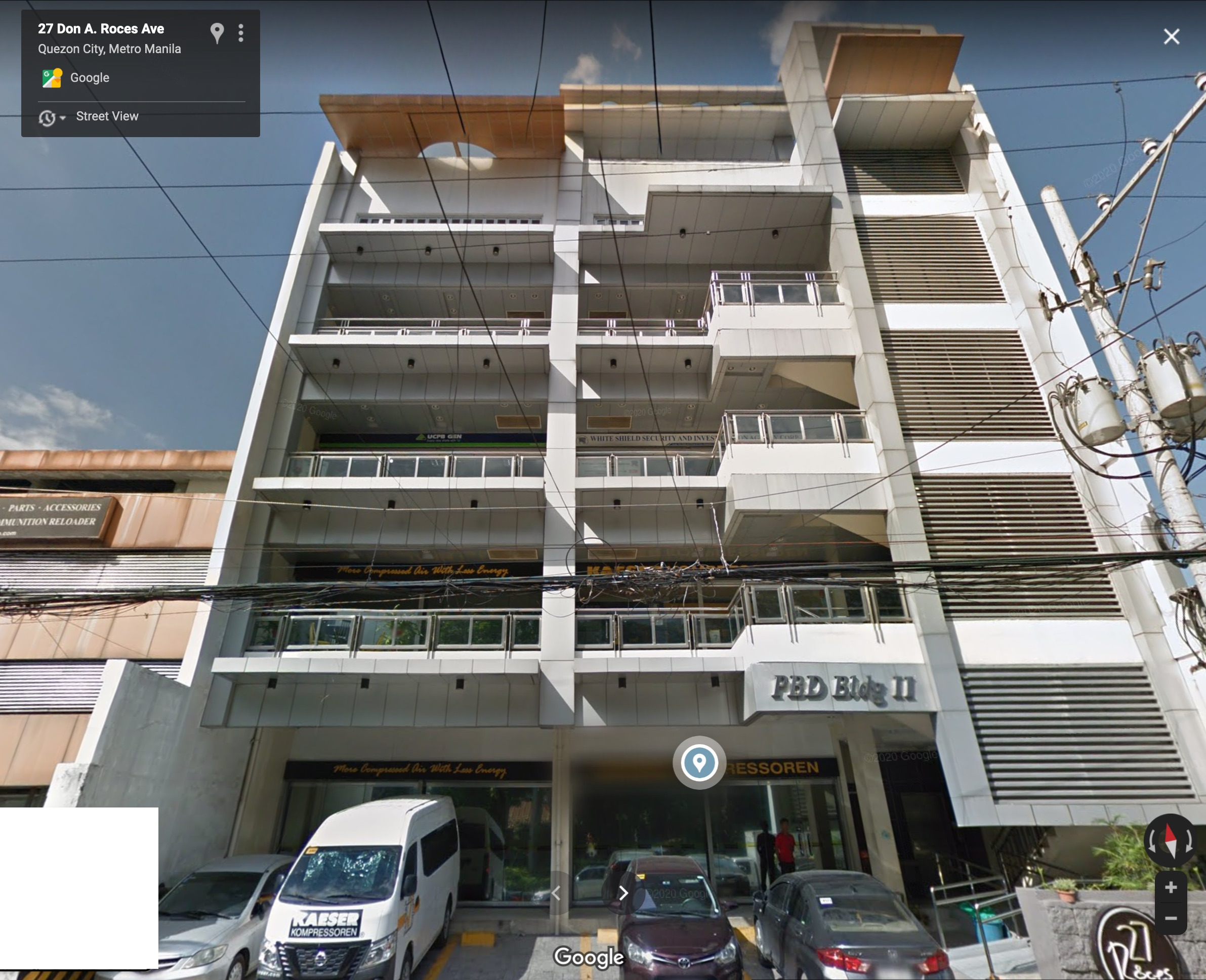 PB Dionisio Bldg. II 27 Don Alejandro Roces Avenue, Quezon City 1103 Brgy, Quezon City, 1103 Metro Manila