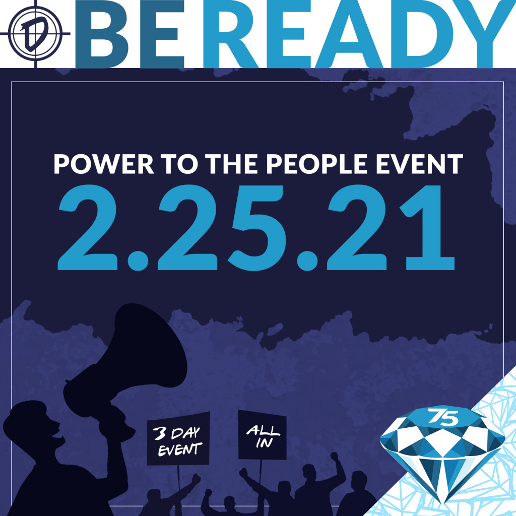 Be ready for our Power to the People Event!