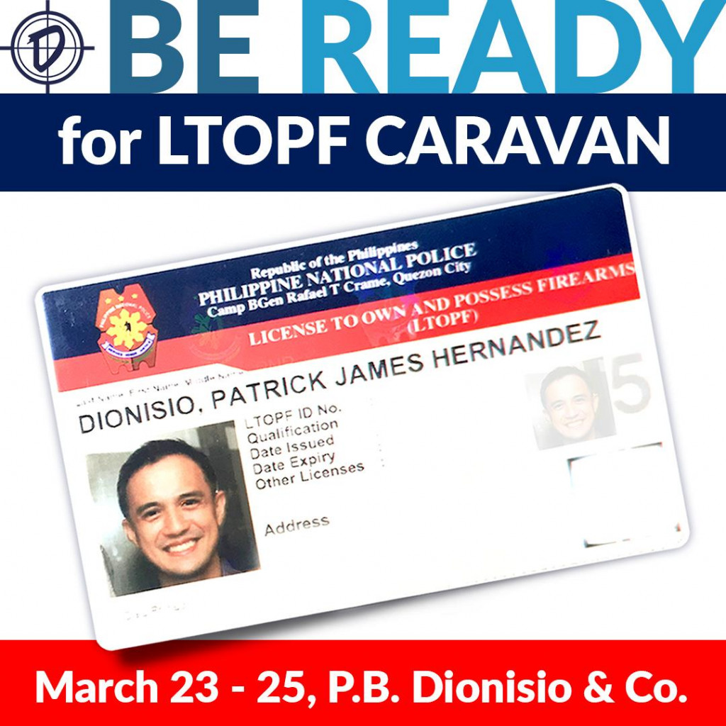 Be Ready for the LTOPF Caravan this March 23 - 25, 2021 at P.B.Dionisio & Co. Main Store.